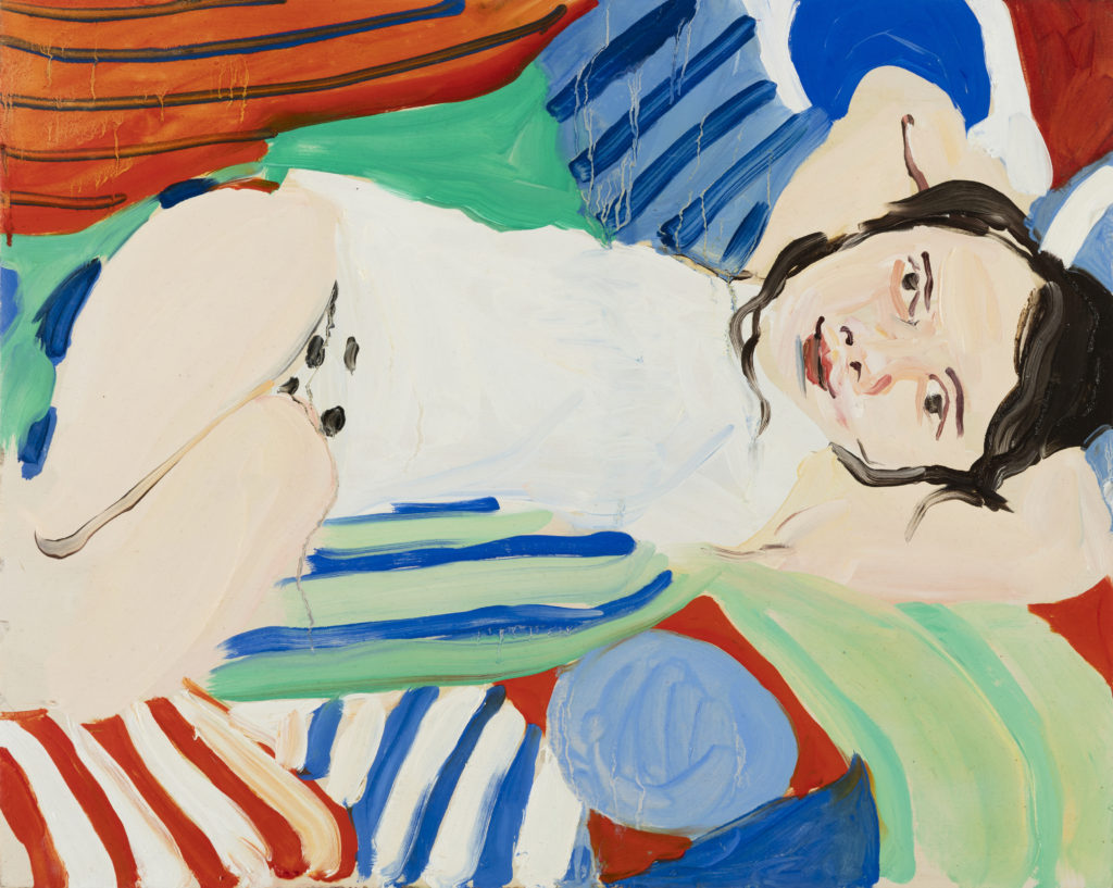 Chantal Joffe, Bella Reclining, 2016 Oil on board, 40 x 50 cm, Photographer: Angel Gil