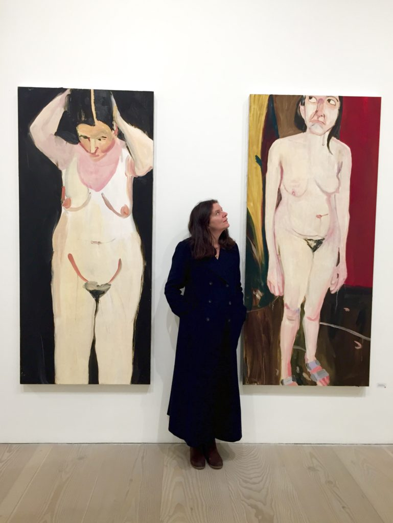 Chantal Joffe at Galerie Forsblon, photograph: Katja Räisänen