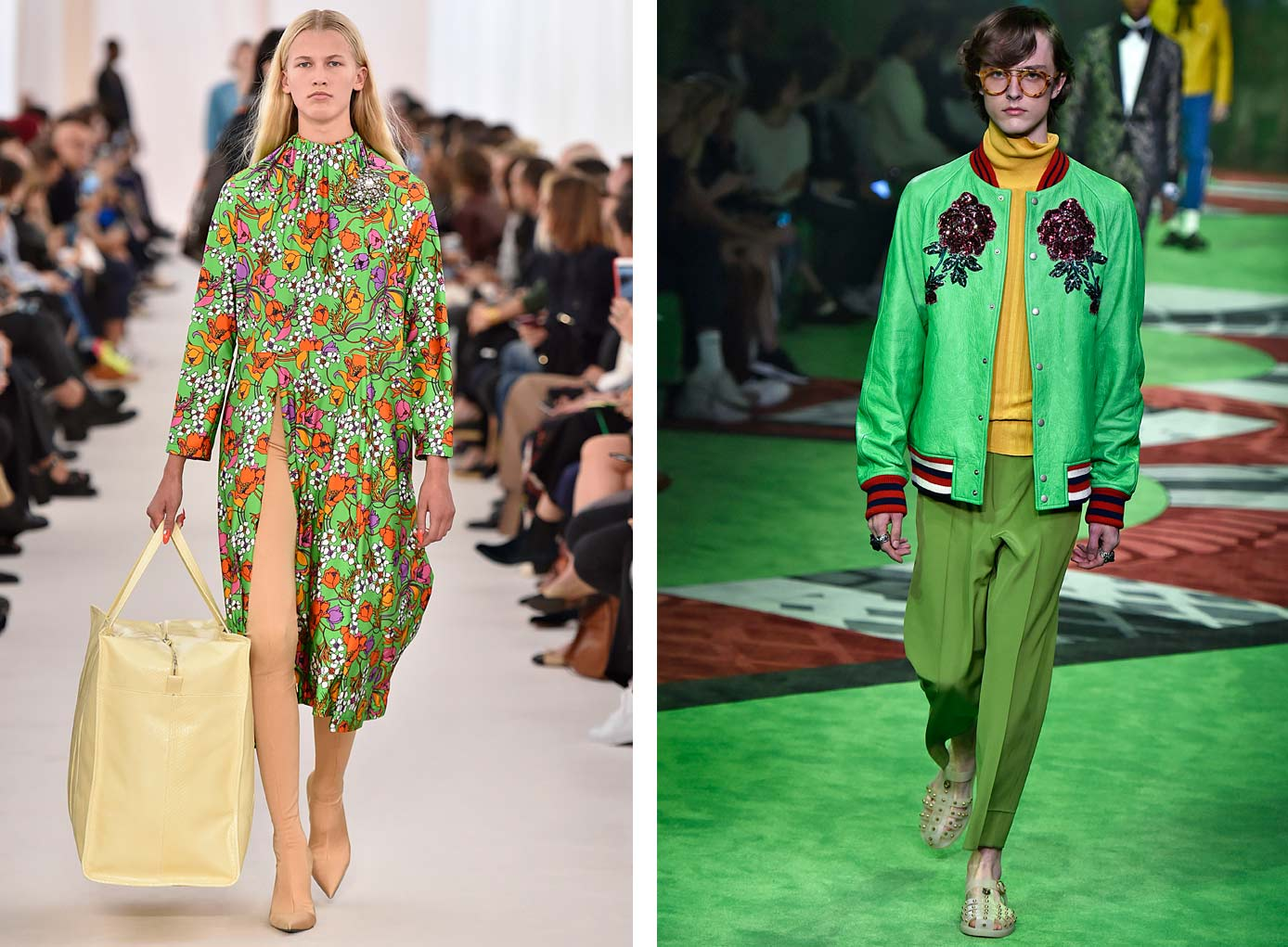 SS 2017 by Balenciaga and Gucci - images courtesy of FashionSnoops