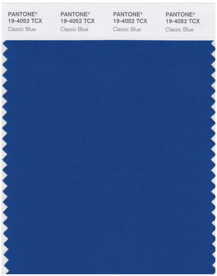 PANTONE Color of the Year 2020 Swatchcard: 19-4052 Classic Blue